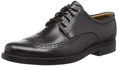cfc14ee68 Clarks Men s Un Aldric Wing Derbys Black  Amazon.co.uk  Shoes   Bags