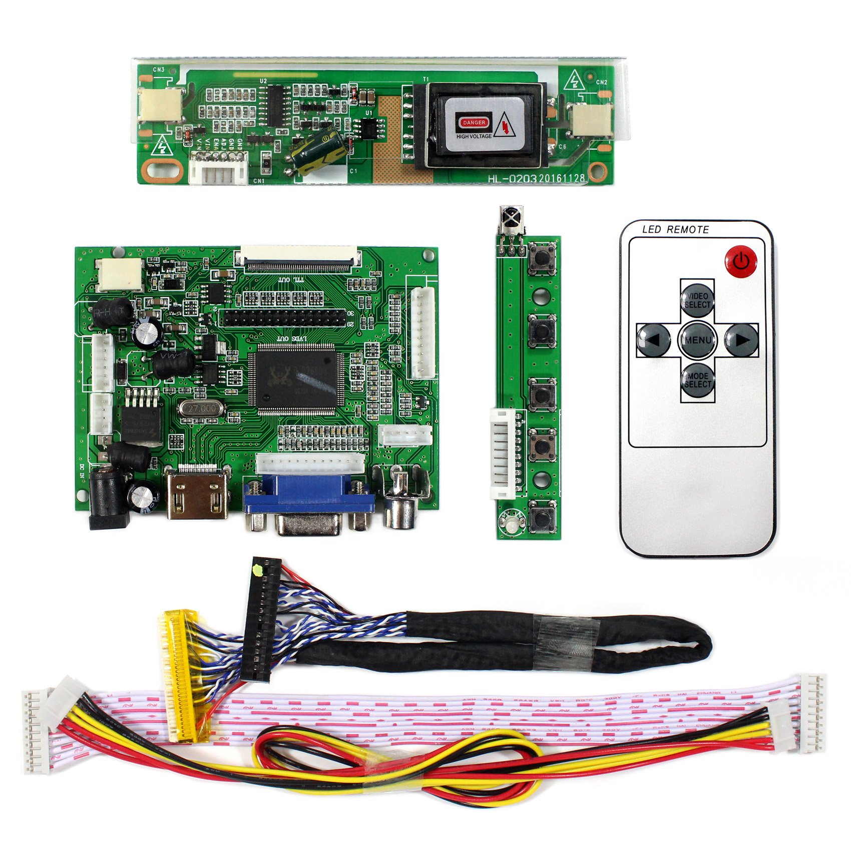 HDMI+VGA+2AV Input LCD Controller Board For B170PW04 LM171W02-TLB2 17'' 1440x900 2CCFL 30Pins LCD Panel by LCDBOARD (Image #2)