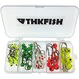 44pcs Lot Fishing Jig 2g 4g 6g 8g 10g Sinker Lead Jig Head Hook Fishing Hook Set with Plastic Fishing Box by thkfish