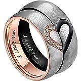 AnazoZ für Real Love Herz Verlobungsringe Edelstahl Ringe Hochzeit Trauringe Bandringe 6MM (Preis nur für 1)