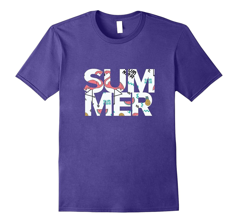 Summer Cute Flamingo Shirt-Vaci