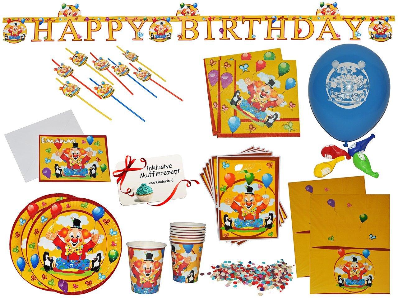 Unbekannt 16 tlg. Set Einladungskarten - Clown / Zirkus - Incl ...
