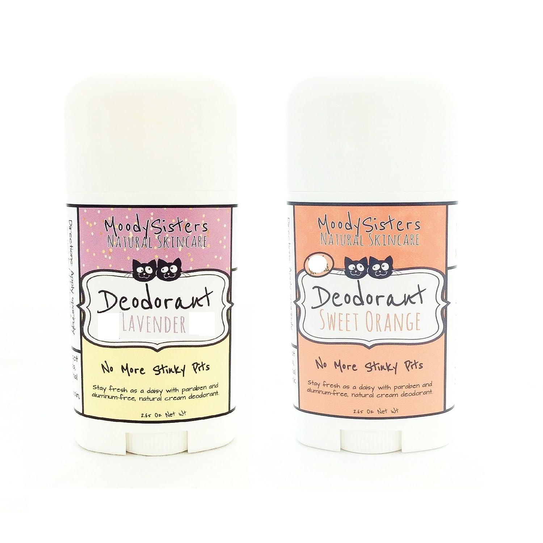 Cream Deodorant (2 Pack) (Baking Soda Free Lavender Citrus & Sweet Orange  2-Pack)