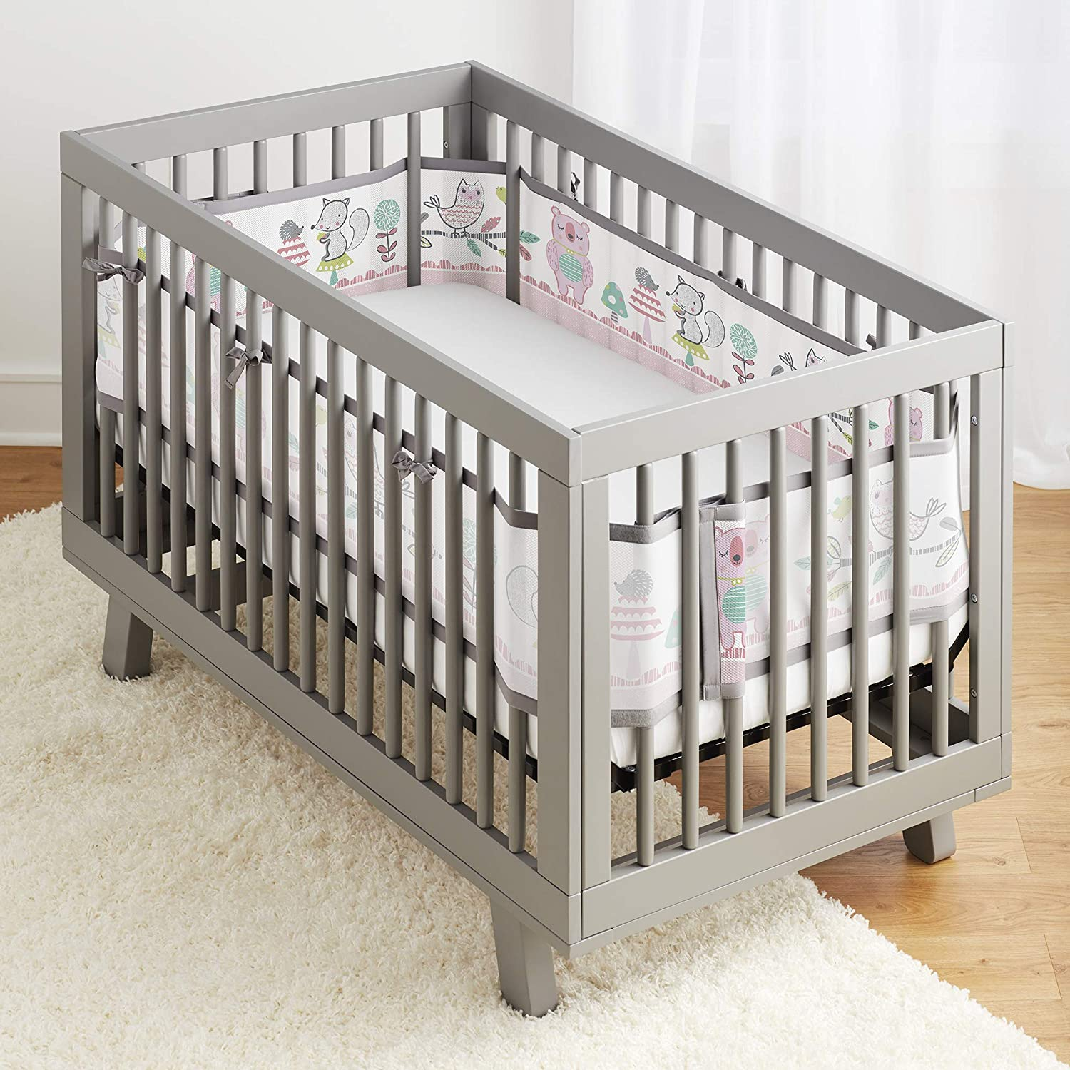 Forest Fun Pink BreathableBaby Classic Breathable Mesh Crib Liner