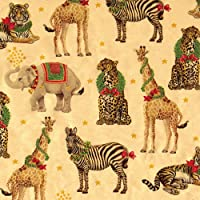 Caspari - Christmas Gift Holiday Wrapping Paper, Wild Christmas Gold Foil, 8-Feet, 1-Roll