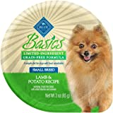 BLUE Basics Limited Ingredient Diet Grain Free Small Breed Wet Dog Food Cups