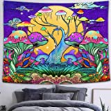 FEASRT Trippy Art Tapestry Hippie Mushroom Tapestry Wall Hanging Tapestries for Home Bedroom Living Room Apartment Dorm Offic