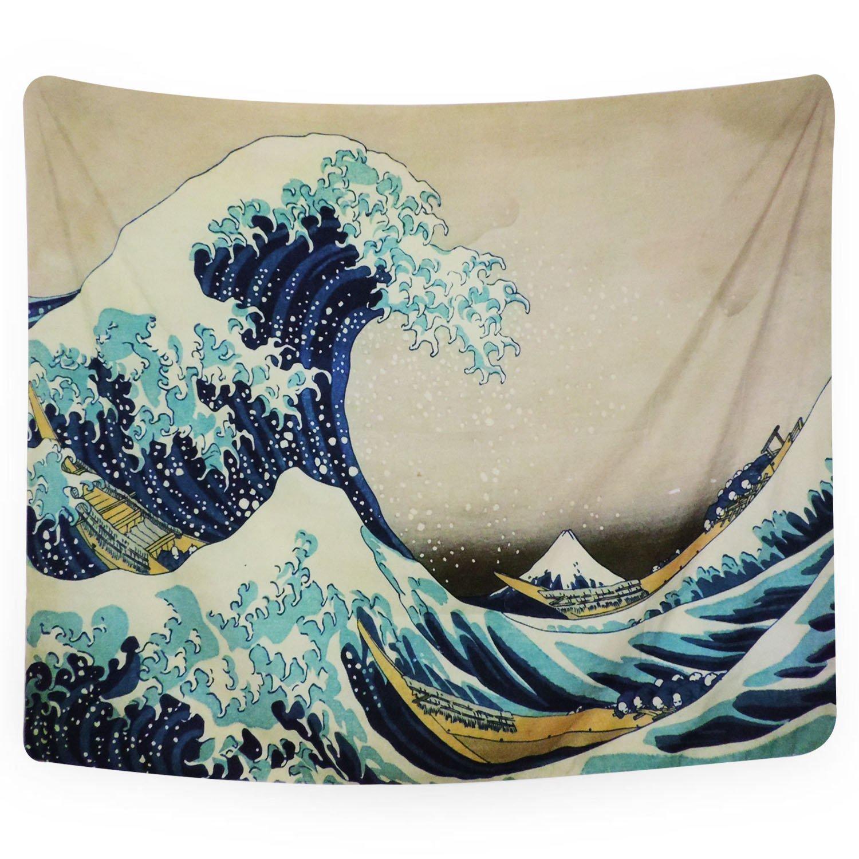 PANDAYAQ Tapestry Wall Tapestry Wall Hanging Tapestries The Great Wave off Kanagawa by Katsushika Hokusai Thirty-six Views of Mount Fuji Tapestry Wall Blanket Wall Decor Wall Art Home Decor