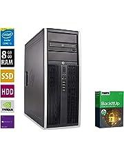 PC Gamer Multimédia Unité centrale - HP Elite 8300CMT - Nvidia Geforce GTX 1050 -Core i5-3470@3,2GHz-8 Go RAM - 1To HDD - 240Go SSD - Lecteur DVD - Win 10 PRO (Reconditionné)
