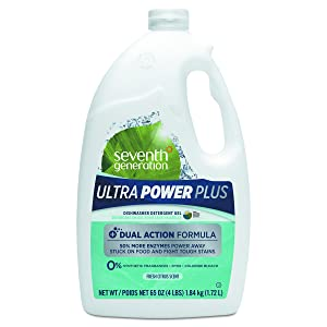 Seventh Generation 22929CT Natural Auto Dishwasher Gel, Ultra Power Plus, Fresh Citrus, 65 oz Bottle (Case of 6)