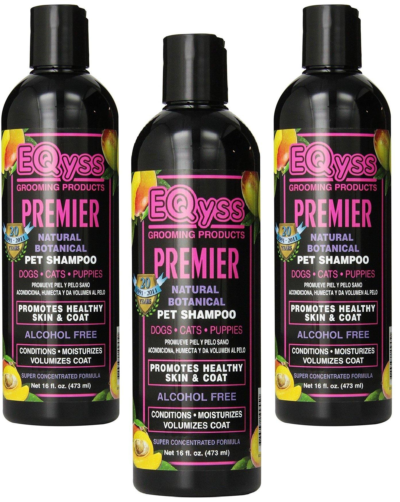 (3 Pack) EQyss Premier Pet Shampoo, 16 Ounces each