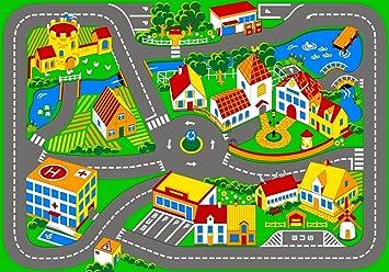 juego alfombra quiet town x cm u alfombra para nios parte calle carretera alfombra
