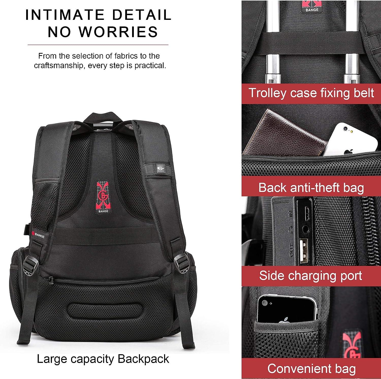 Compatible avec la TSA Sac /à Dos pour Ordinateur Portable de 17 OBOC Sac /à Dos d/écontract/é pour Ordinateur Portable,avec Charge USB et Port pour /écouteurs