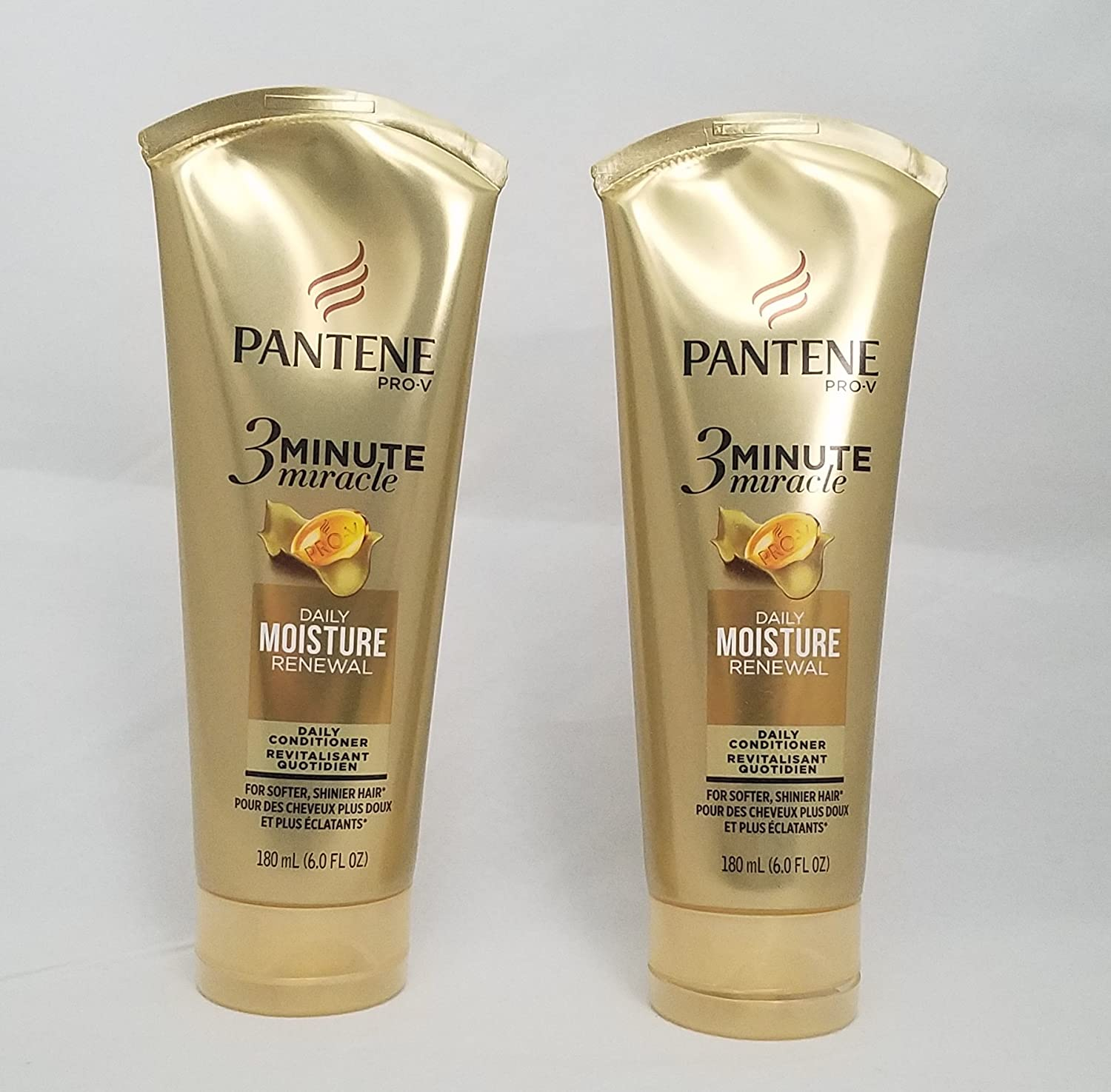 Pantene Moisture Renewal 3 Minute Miracle Deep Conditioner, 6 Fluid Ounce, Pack of 2