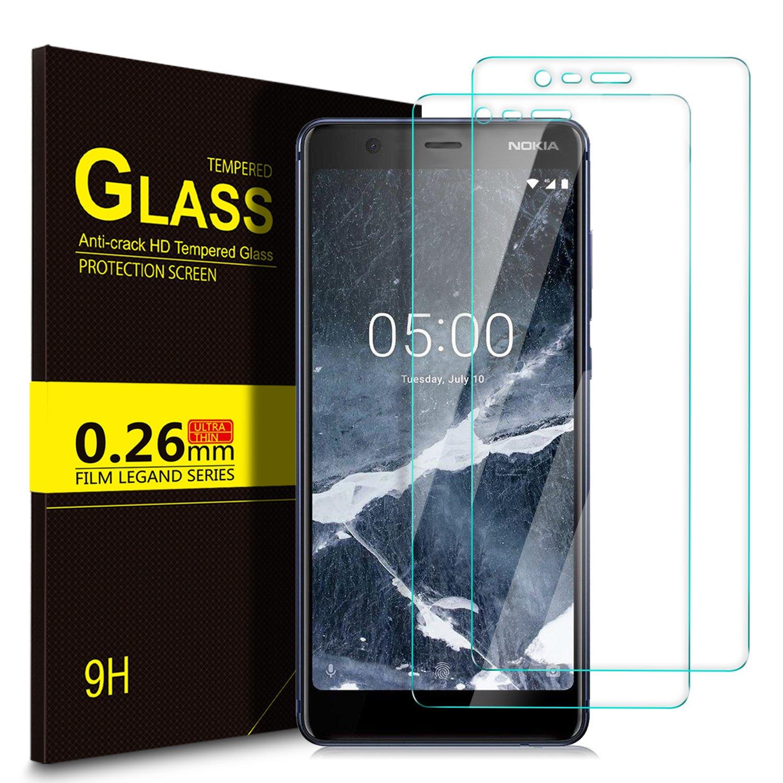 KuGi Nokia 5.1/Nokia 5 2018 Pellicola, Nokia 5.1/Nokia 5 2018 Pellicola protettiva [Anti-Riflesso & Anti-Bolla] [Durezza 9H] Applicare a Nokia 5.1/Nokia 5 2018 Smart phone (2 Pezzi) Update