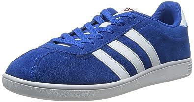 ead11ba3e81b adidas Neo VLNEO COURT Blue Suede Leather Sneakers Shoes  Amazon.co ...