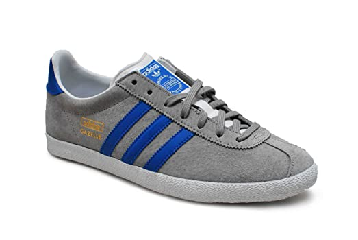 Adidas Men\u0027s - Gazelle OG Original - Grey Blue - UK 6.5