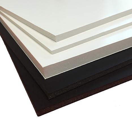 Ligero tablero de espuma 70 X100 cm, 10 mm, color blanco