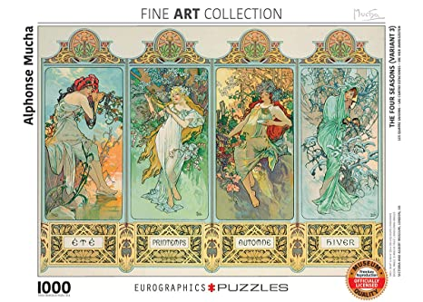 Euro Graphics Four Seasons By Alphonse Maria Mucha (1000 Piece) Puzzle by Euro Graphics
