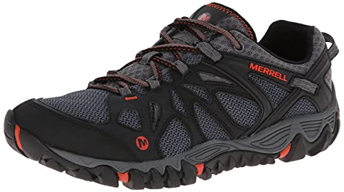Merrell Men's All Out Blaze Aero Sport Hiking Water Shoe, Black/Red, 9.5 M US