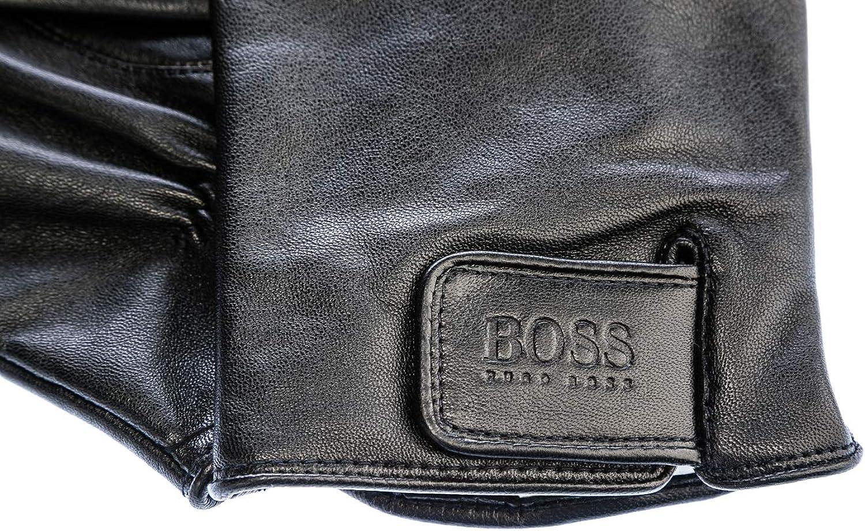 Black Helkop BOSS HUGO Herren Lederhandschuhe mit Futter