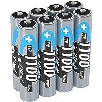 ANSMANN Accu AAA 1.100 mAh (min. 1.050 mAh) NiMH 1,2 V (8 stuks) - oplaadbare potloodbatterijen AAA, hoge capaciteit…