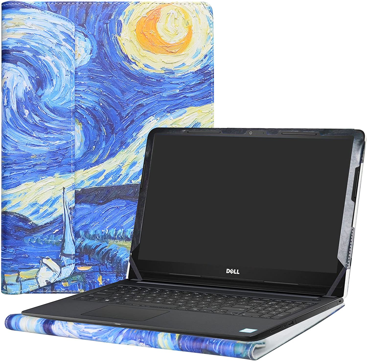 "Alapmk Protective Case Cover For 15.6"" Dell Inspiron 15 3593 3595 3585 3584 3583 3582 3581 3580 3573 3567 3565 3568 3576 3573 3551 3552 3558 Series Laptop(Note:Not fit 3542 3543 3541),Starry Night"