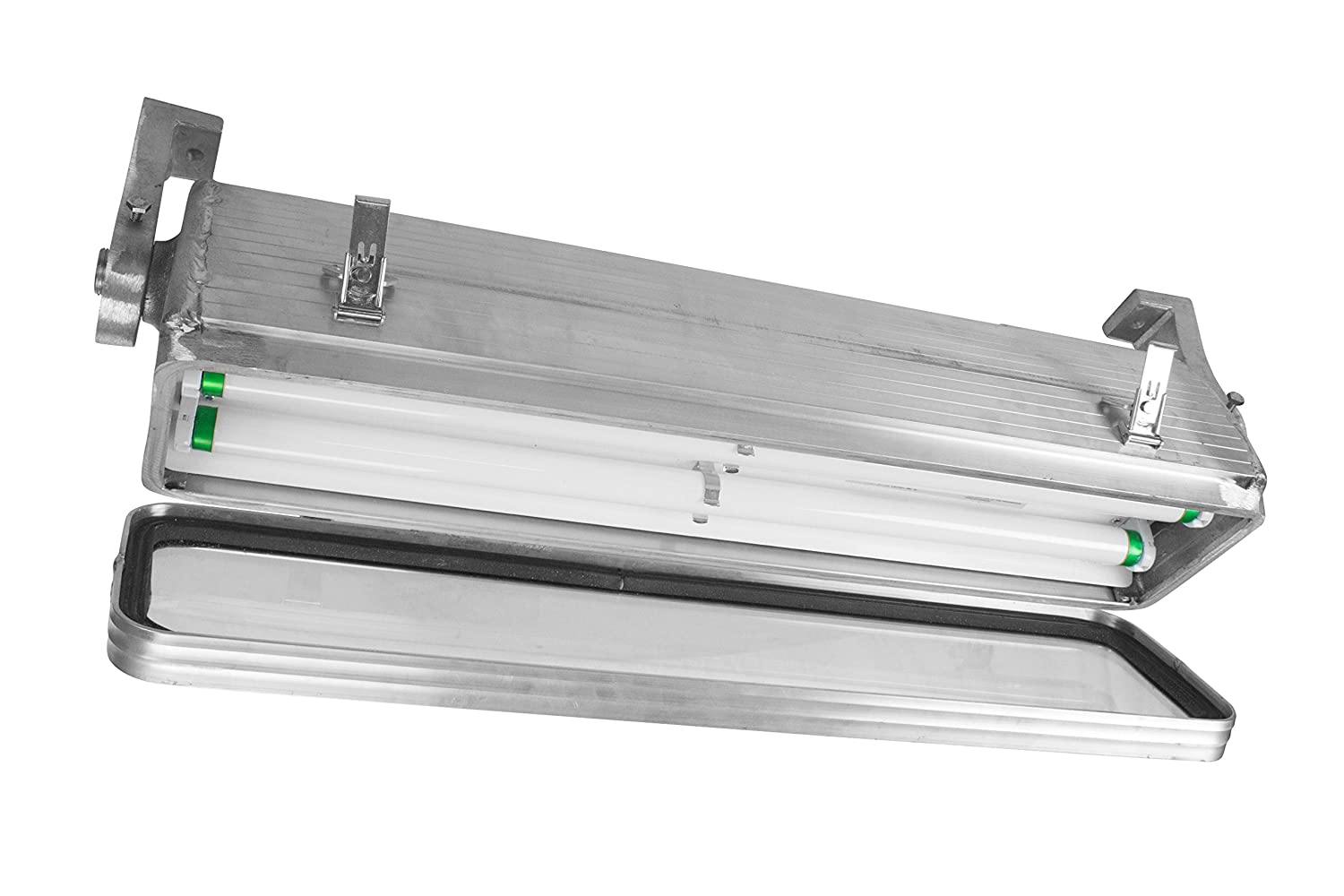 Hazardous location area fluorescent light 2 foot 2 lamp class 1 division 2 groups a d t8 pendant