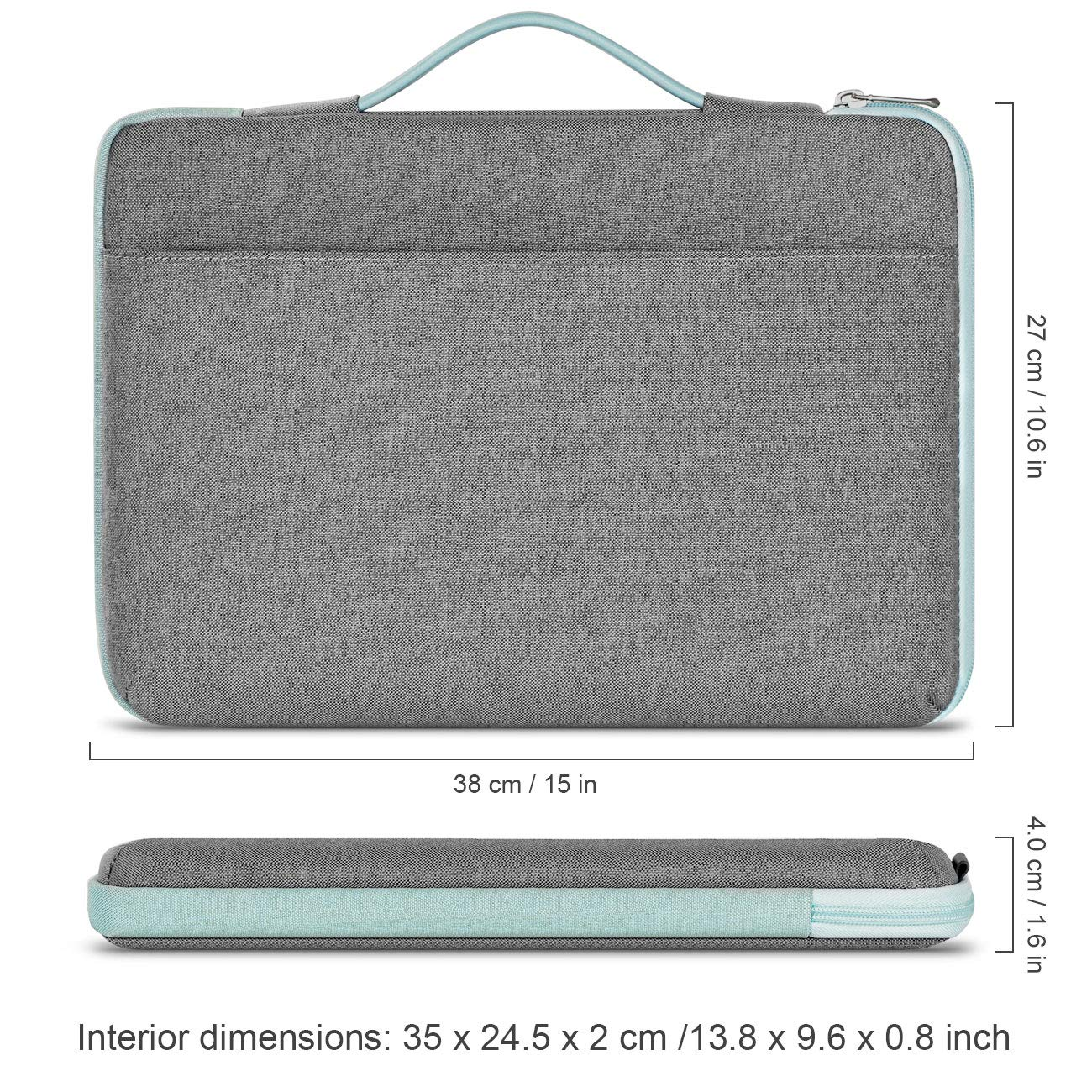 with Extra Storage Space Notebooks Ultrabooks Netbooks Inateck Shockproof Laptop Sleeve Case Briefcase Spill Resistant for 13-13.3 Inch Laptops