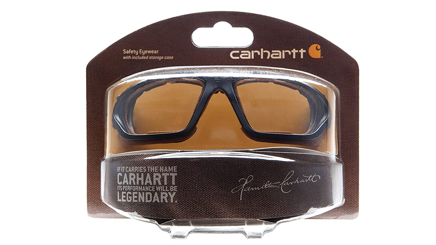 b463ddf5e6a Amazon.com  Carhartt Carthage Safety Eyewear with Vented Foam Carriage