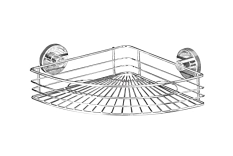 Ablage ohne boren WENKO Badezimmer Vacuum-Loc Eckablage Wandablage Duschregal