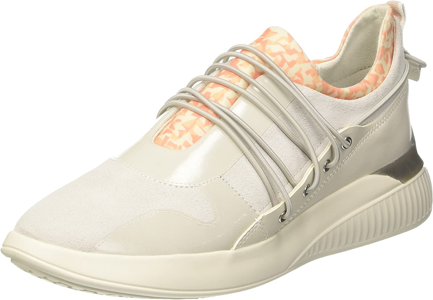 Misterio Pegajoso dígito  Geox D Theragon A, Zapatillas para Mujer, Blanco (Off White), 36 ...