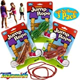 """Toysmith Chinese Jump Rope (60"""") Gift Set Party Bundle - 3 Pack"""