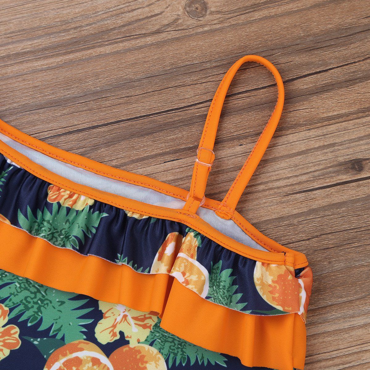 YiZYiF Kids Girls Fashion Lemon Ruffles One Shoulder Swimsuit Swimwear Bathing Suit with Adjustable Strap
