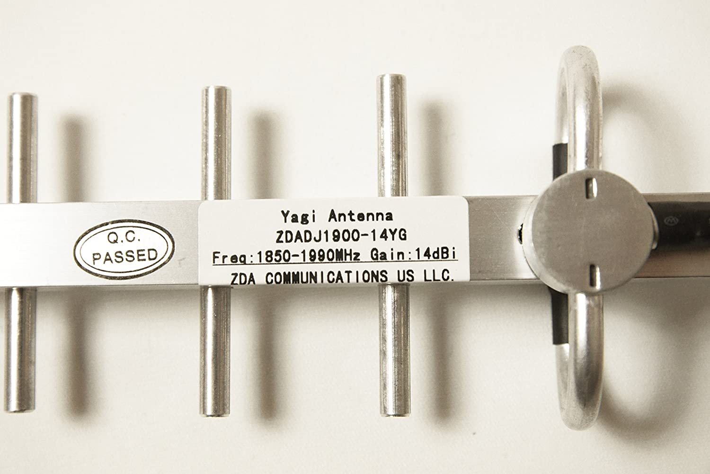 1850 – 1990 MHz Antena Yagi 14 dBi, de aluminio con conector ...
