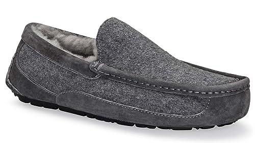 UGG Australia para Hombre Ascot Zapatillas de Lana Metal, Color, Talla 48: Amazon.es: Zapatos y complementos