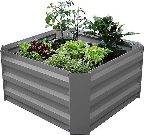 Koll Living Hochbeet Fruhbeet Fur Terrasse Oder Balkon 60 X 60 X 30 Cm Amazon De Kuche Haushalt