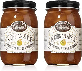 product image for Brownwood Farms Michigan Apple Filling - 2/18 oz Best Premium Pie Fillings Toppings- Made in USA Gluten-free - W/ Great Lakes apple- Chefs Baking Topping- Apple pie - Ice cream - Yogurt (BFAP2P)