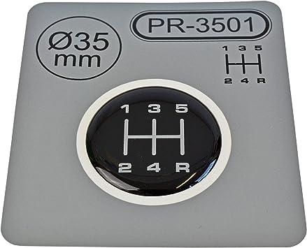1/X leva del cambio di diametro = 35/mm 5/marce pomello del cambio Emblem silicone adesivo schema 1