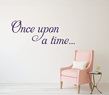 Once Upon A Time Wall Decal Home Quotes Sayings Words Art Decor Lettering Vinyl
