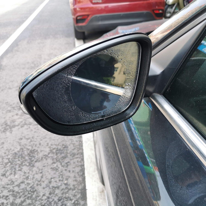 Waterproof Rainproof Car Rearview Film Anti-Glare Anti Flare Anti Fog Mirror Film for Car Mirror and Side Windows DORUOD 6pcs Car Mirror Film