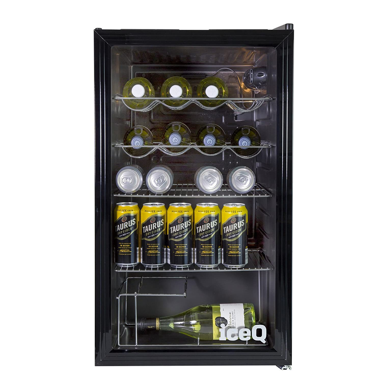 Iceq 93 litre under counter glass door display fridge amazon iceq 93 litre under counter glass door display fridge amazon large appliances planetlyrics Image collections
