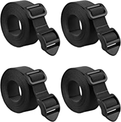 MAGARROW 1 1.5 Shoulder Strap Adjustable with Rotatable Clips for Gym Bag Travel Accessories Universal Replacement 4-Pack Black