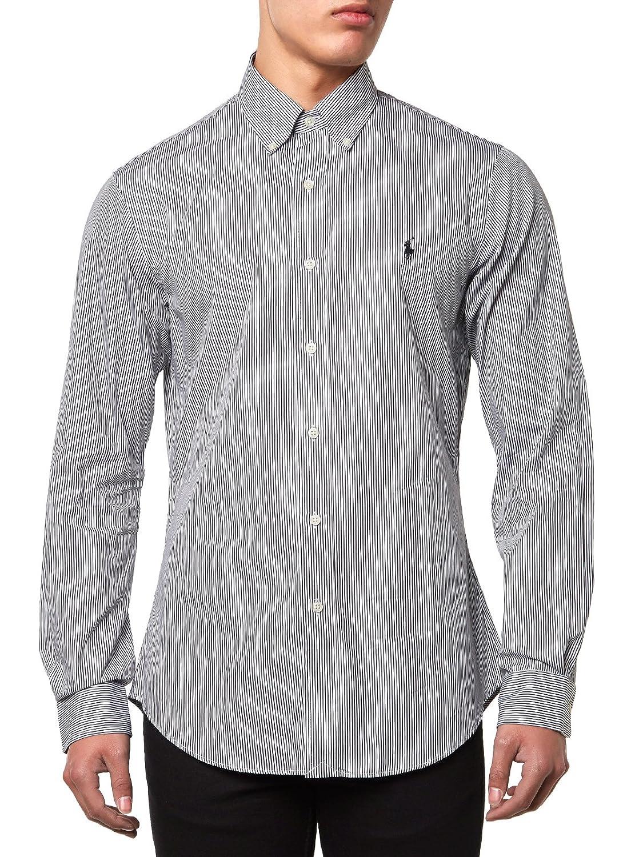 Polo Ralph Lauren LS Slim Fit BD Ppc SPT-Camisa Hombre Negro y ...