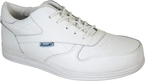 Henselite Mens Victory Quality Lace Lawn Bowling Shoes Grey UK 12
