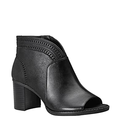 -AVENUE Women's Sutton Peep Toe Bootie