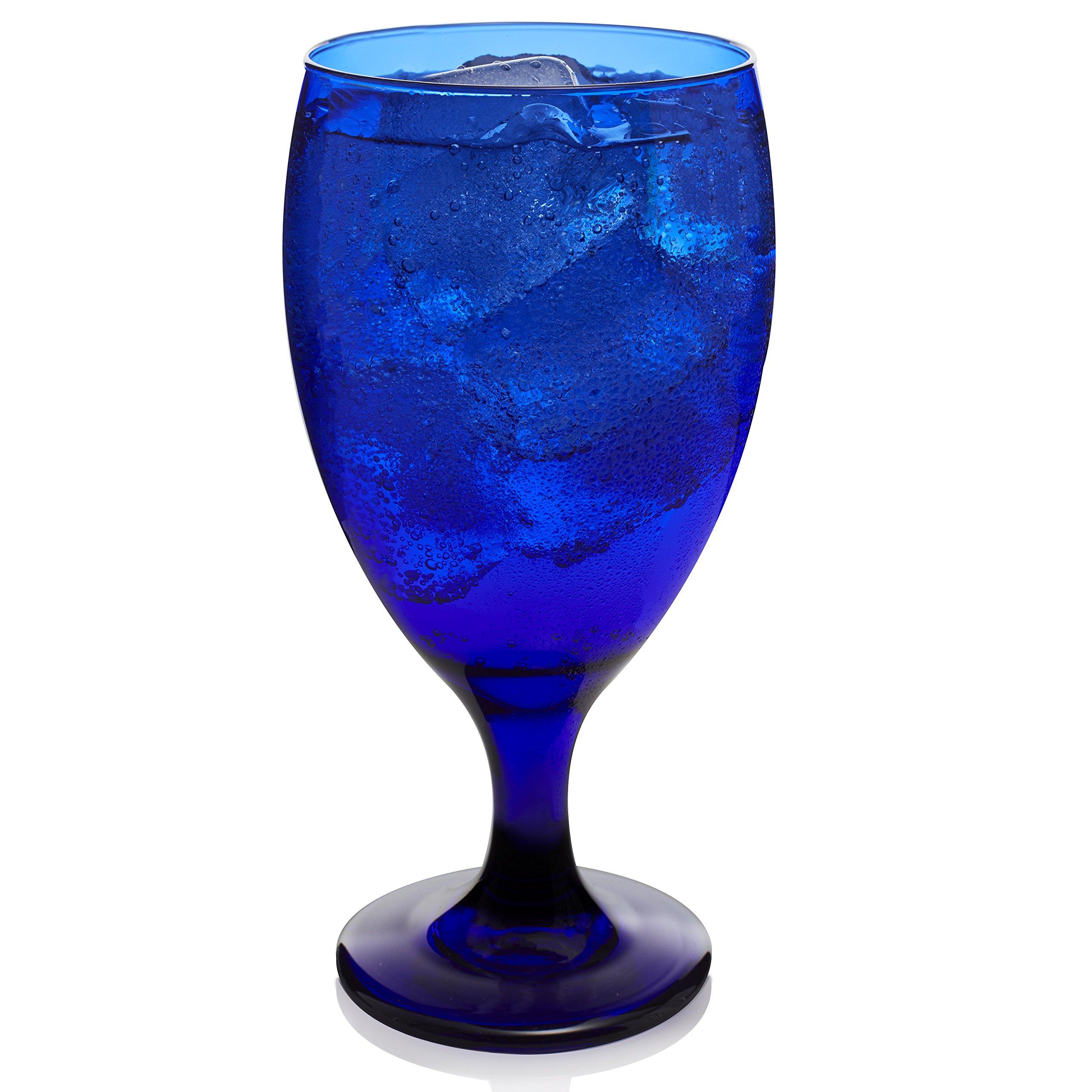 Libbey Premiere Cobalt Iced Tea Glasses, Set of 12 (Frustration Free Packaging)