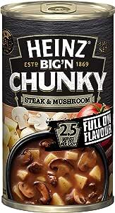 Heinz Big 'N Chunky Steak and Mushroom Canned Soup, 535g