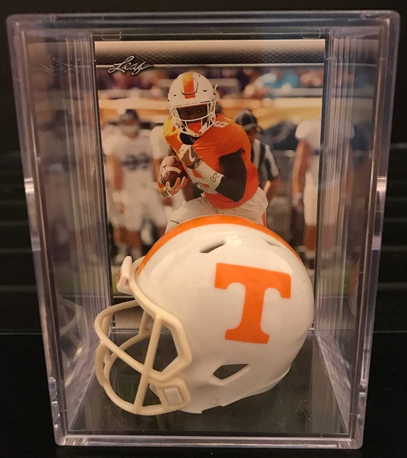 Tennessee Volunteers NCAA Helmet Shadowbox w/ Alvin Kamara card Riddell