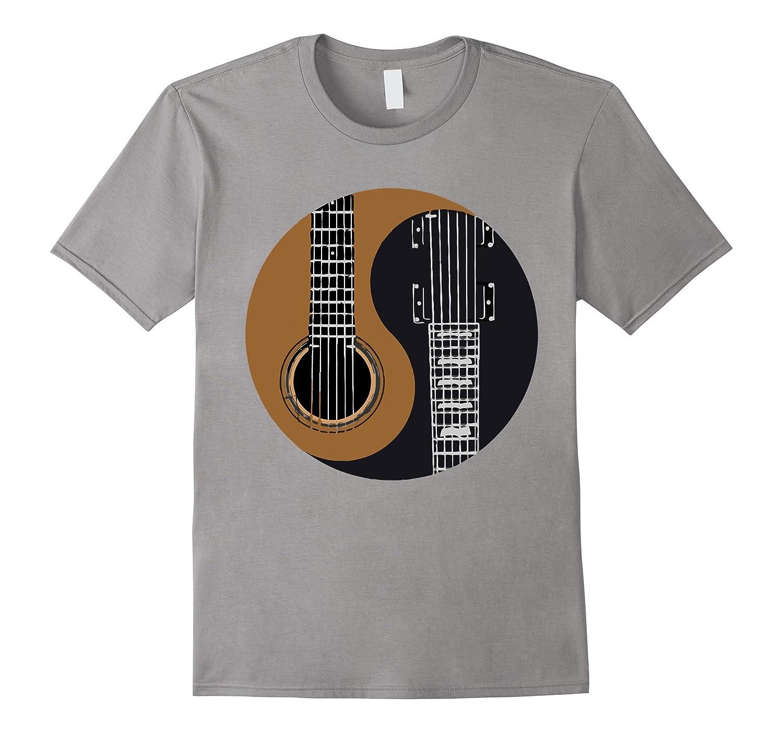 guitar yin yang love guitar t shirt cl colamaga. Black Bedroom Furniture Sets. Home Design Ideas